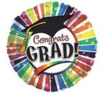 Congrats Grad Rainbow Stripes<br>3 pack
