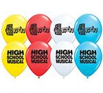 High School Musical Latex Balloons<br>6 pack