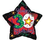 30th Birthday Star 3 pack