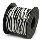White Zebra Stripe Ribbon