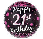 21st Birthday Pink & Black 3 pack