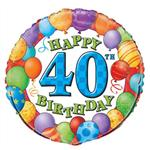 40th Birthday Balloons 3 pack