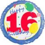 16th Birthday Balloons 3 pack