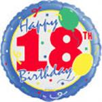 18th Birthday Balloons 3 pack