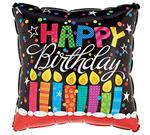 Birthday Black Candles<br>3 pack