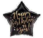 Birthday Black & Gold Star<br>3 pack