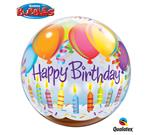 Birthday Balloons & Candles Bubble Balloon