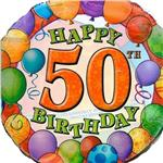 50th Birthday Balloons 3 pack